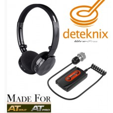 Deteknix wireless headphone / draadloze hoofdtelefoon voor Garrett AT PRO en AT Gold!